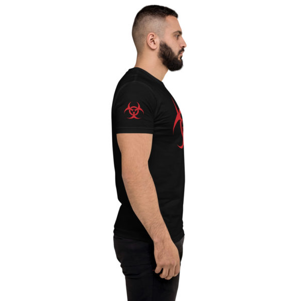 Biohazard - American Czar - Great way to fend off others when it gets too peoply. Not because of the current virus, just cause you don't want people near you AT ALL. This t-shirt is comfortable, soft, lightweight, and form-fitting. It's an ideal staple piece for any wardrobe!